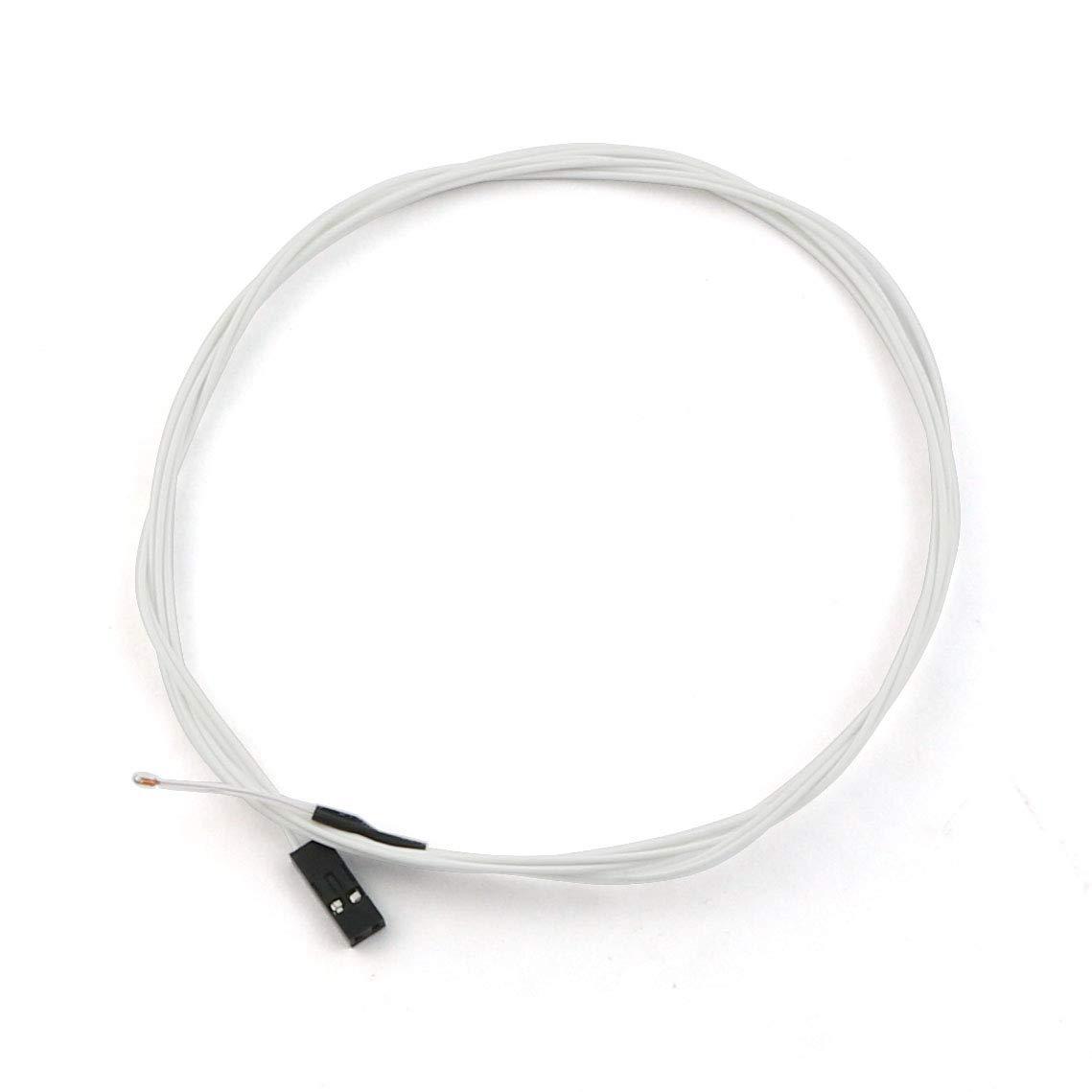 RLECS 5-Pack 3D Printer Thermistors Temperature Sensor NTC 3950 100K with 1M Cable /& 2Pin Head Connector for RepRap 3D Printers Heatbed Hot End Mendel Prusa J-Head