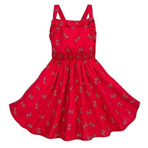 (Disney Minnie Mouse Polka Dot Bow Sundress for Girls Size 5/6)