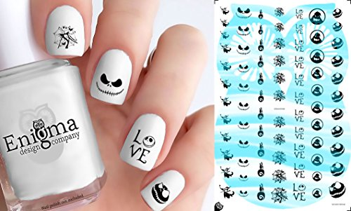 The Nightmare before Christmas Nail Decals (Clear Vinyl, Peel & Stick) -