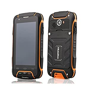 Huadoo V3 Mobile Factory Unlocked Cell Phones Ip68 Tri-proof Waterproof Shockproof Dustproof 4.02 Inch Touch Screen Android 4.4 Ultra Rugged Smartphones Simple Gsm 3g Wcdma850/2100 (Orange)