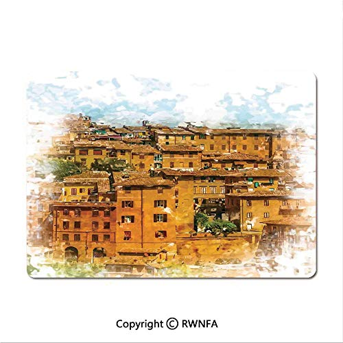 Game Speed Version Medium Cloth Mouse pad,Ancient Italian Street in a Small Provincial Town of Tuscan Italy European(8.3