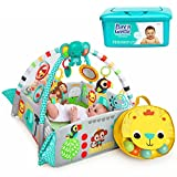 Bright Starts 5-in-1 Your Way Ball Infant-to-Toddler Play Gym Activity Center, Ball Pit, and Playmat with Musical Toys, Balls, and Hypoallergenic Baby Wipes