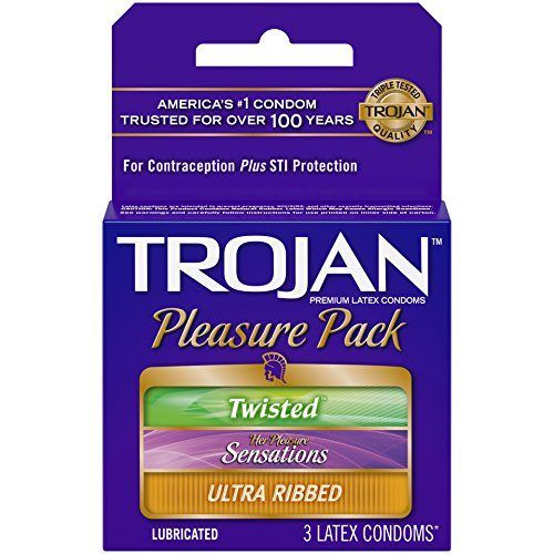 Trojan Pleasure Pack Condom, 3 Count