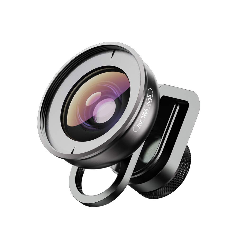 ZXYWW HD Phone Camera Lens, HD5-V2 Wide-Angle Macro Fisheye Increase HD Filter Phone Lens with Locomotive Metal Clip for iPhone 7/6/6s Plus/5 Smartphone