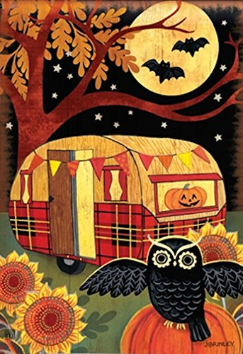 Breeze Art Halloween Camper Garden Flag #31231