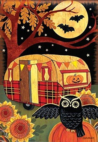 Breeze Art Halloween Camper Garden Flag #31231]()