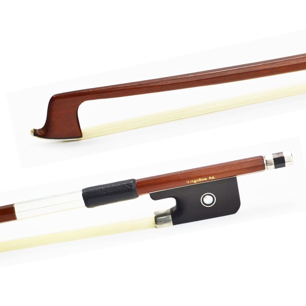 VingoBow 4/4 Size Brazilwood VIOLA BOW! High Density Ebony Frog, Gorgeous String Instrument Parts, Art No.310M