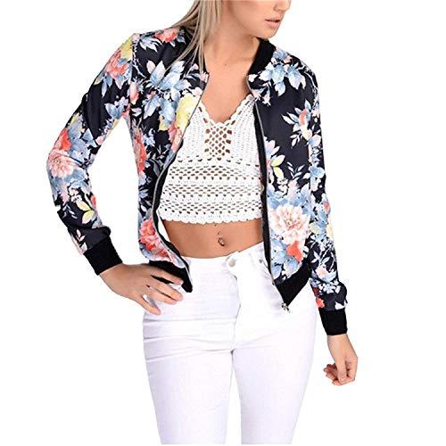 Jacket Vintage Motif El Manteau Printemps Femme Costume Automne Baseball Fleur Mode rAgr7q