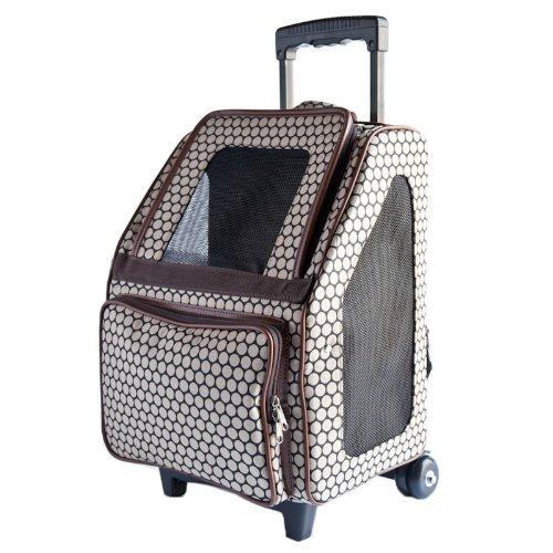 Petote Rio Bag On Wheels Pet Carrier, Noir Dots