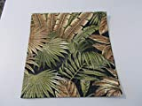 Stitch N Art Chair Cover Recliner Pad Headrest Furniture Protector Canvas Palm Tree Black Print Indoor Outdoor Upholstery14X30 Sofas Loveseats Theater Seating Chaises
