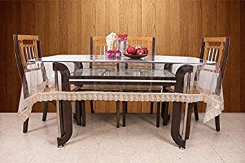 Kuber Industries™.20Mm Dining Table Cover Transparent 6
