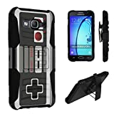 Cheap Galaxy On5 Case, DuroCase Hybrid Dual Layer Combat Armor Style Kickstand Case w/ Holster for Samsung Galaxy On5 (T-Mobile / MetroPCS, Released in 2016) – (Game Controller)