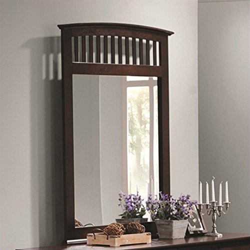 Coaster Home Furnishings 202084 Casual Contemporary Mirror, - Mirror Dresser Cappuccino