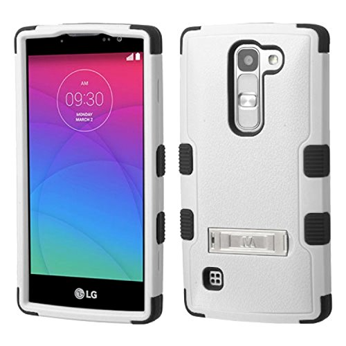 Asmyna Carrying Case for LG H443 Escape 2 - Retail Packaging - Natural Gray/Black