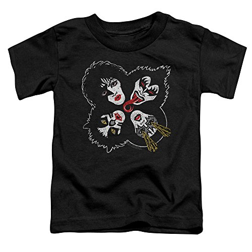 KISS Rock and Roll Heads Unisex Toddler T Shirt for Boys and Girls
