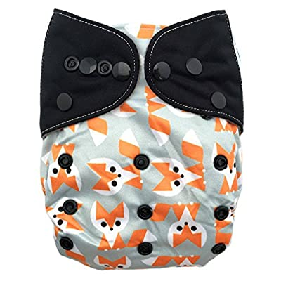 HappyEndings All In One Contoured Charcoal Bamboo / Micro Fleece/ Organic Cotton Cloth Diaper (+Pocket)