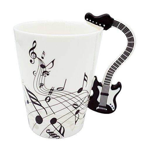 Acoustic Guitar Mug (LanHong - 400ml Guitar Mug Coffee Cup Ceramic Music Guitar Cup Gift for Friend)