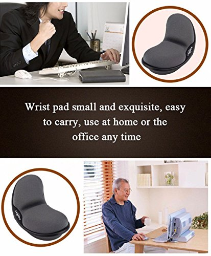 LingsFire Memory Foam Mouse Wrist Rest Keyboard Wrist Rest Pad Anti-Skid Mousepad Support Wrist Rest Mat for Office Computer Laptop Mac- Durable Comfortable Lightweight Easy Typing Pain Relief