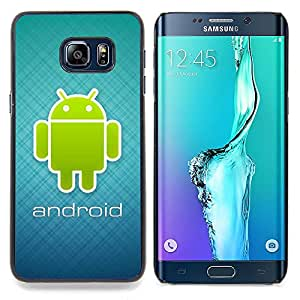 Android Blue Green Caja protectora de pl??stico duro Dise?¡Àado King Case For Samsung Galaxy S6 Edge Plus
