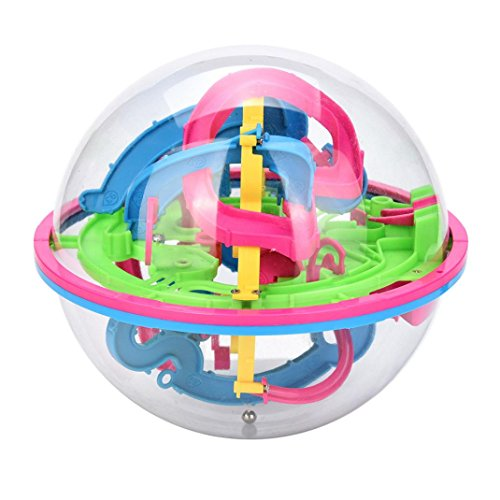 118 Barriers 3D Labyrinth Magic Intellect Ball Balance Maze Perplexus Puzzle Toy by CSSD (Multicolor)