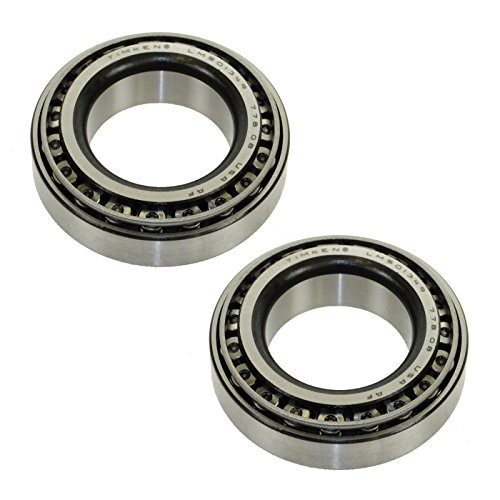 (TIMKEN Bearing & Race Front Inner Outer Pair Set for Chevy Dodge Ford GMC Jeep)