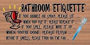Amazon Com Bathroom Etiquette Home Kitchen