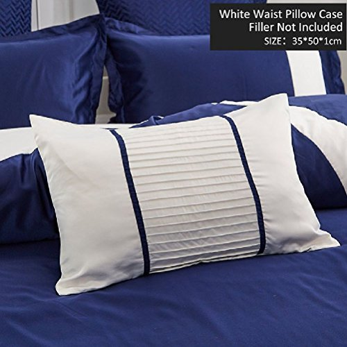 Royal Blue Pillow Case Beding Accessories Cushion Solid Waist Home Textile