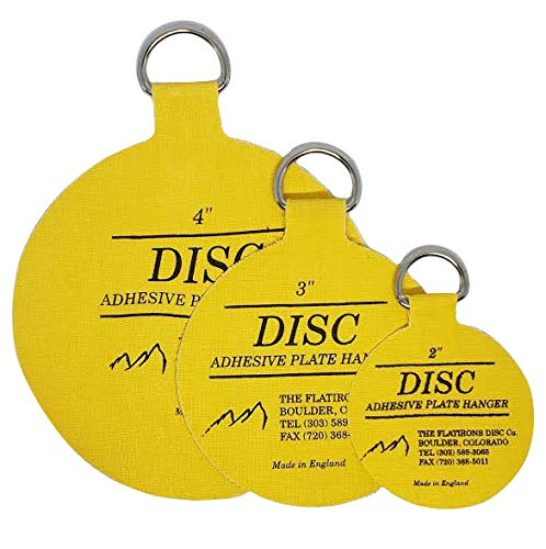 Flatirons Disc - Invisible English Disc - Adhesive Plate Hanger Set-|2