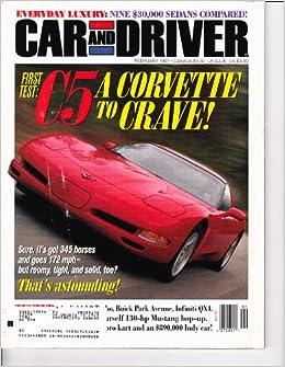 Car Driver Magazine February 1997 C5 Corvette 9 30k Sedans