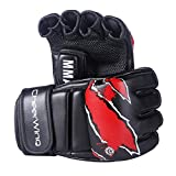Cheerwing Boxing Gloves MMA UFC Sparring Grappling Fight Punch Mitts Leather Training Gloves