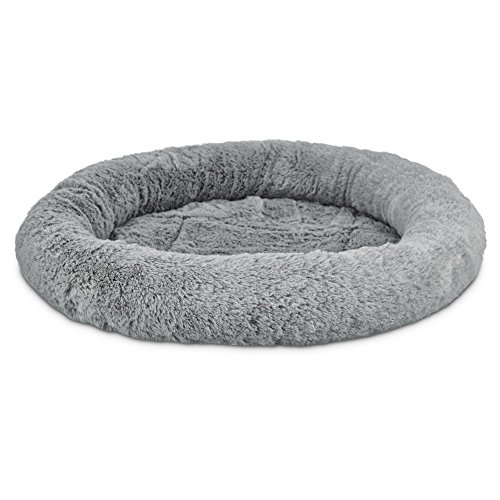 Harmony Oval Cat Bed in Grey, 17