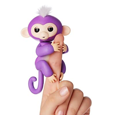 WowWee Fingerlings Baby Monkey - Mia - Purple ( Includes Bonus Stand): Toys & Games