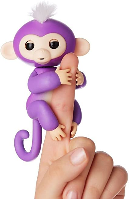 Includes Bonus Stand WowWee Fingerlings Baby Monkey Purple Mia 123