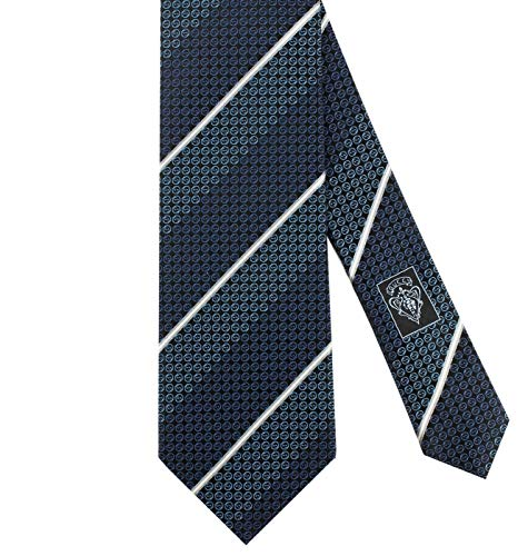 Blue Silk Tonal Tie (Gucci 'Imera' Interlocking Mini G Tonal Woven Italian Silk Tie, 3.25