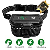 Bark Collars.NUOGAO [Newest 2019] Rechargeable Training bark Collar Waterproof beeping/Vibration/Non-Impact Shock Rechargeable Small Medium Large Dogs of All Breeds (Black)
