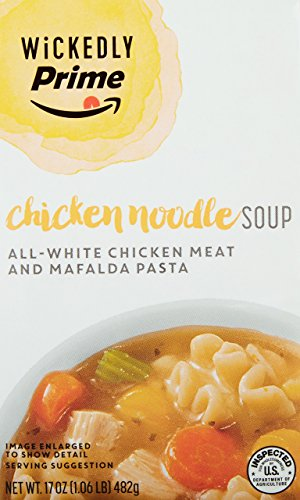 Wickedly Prime Chicken Noodle Soup, 17 Ounce (Pack of 6)