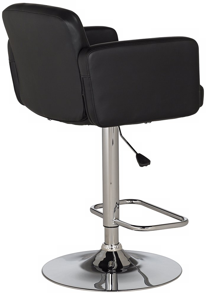 Superieur Amazon.com: Trek Large Black Faux Leather Adjustable Swivel Bar Stool:  Kitchen U0026 Dining