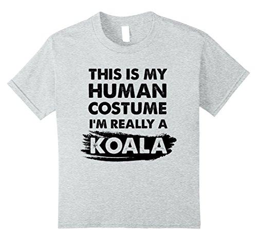Kids This Is My Human Costume I'm Really a Koala, Halloween Shirt 12 Heather Grey