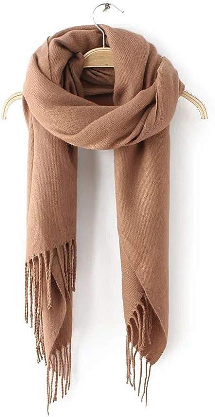AiNaMei Otoño e invierno de las mujeres de imitación pura borla de cachemira cálida bufanda chal
