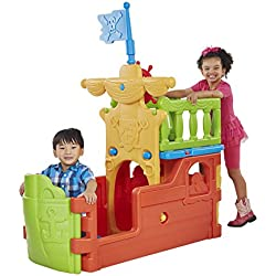 ECR4Kids Indoor/Outdoor Buccaneer Boat with Pirate Flag Play Structure for Kids