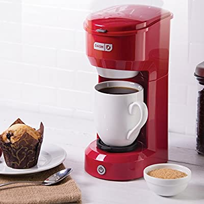 Dash DPC100RD Single Cup Drip Coffee Maker, Red made by Dash