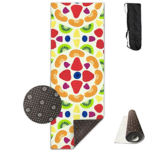 Deluxe Party Kit Kiwi - QNKUqz Kiwi Grape Strawberry Blueberry Party Deluxe Yoga Mat Aerobic Exercise Pilates