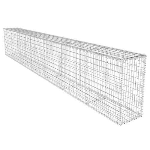 Festnight Gabion Wall Basket with Cover 19.7' x 1.6' x 3.3'
