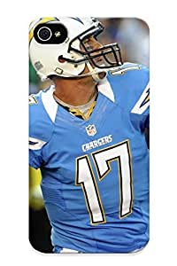 Flexible Tpu Back Case Cover For Iphone 4/4s - San Diego Chargers Nfl Football