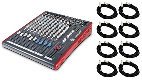 Allen & Heath Zed 14 Bundle with 8 XLR Cables (9 Items) (Mixer Heath Zed 14)