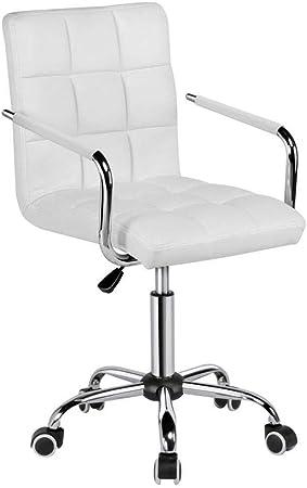 Chaises bureau blanches avec rouesArmes Chaise De Bureau de ZwiuTOPkX