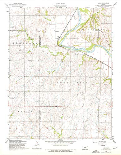 (YellowMaps Alida KS topo map, 1:24000 Scale, 7.5 X 7.5 Minute, Historical, 1955, Updated 1976, 27.03 x 21.03 in - Paper)