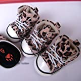 Adorable Puppy Sneakers Pet Shoes Cute Dog Footwear Styles PINK LEOPARD Print-SIZE 2