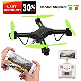RC Drone for Beginners with Wide Angle Camera, Rolytoy 2.4 GHz 6-Axis Gyro Helicopter, HD Camera FPV Wifi Live Video Altitude Hold Headless Mode One Key Return Easy Operation for Kids. (Color Random)