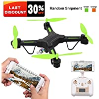 RC Quadcopter Drone with Wide Angle Camera, Rolytoy 2.4 GHz 6-Axis Gyro Helicopter, FPV Wifi Live Video Altitude Hold Headless Mode Beginners for Teens, Kids, Boys & Girls (Color Random)